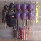 Baseball Dugout Organizer Rack