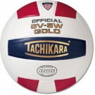 "Tachikara NFHS Official Indoor SV5W Gold Premium Leather ""USA Shield"" Volleyball by"