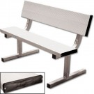 15' Heavy Duty Surface Mount Aluminum Bench with Back