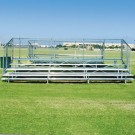 21' Stationary Aluminum Bleachers (4 Rows)