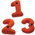 Number Rock Climbing Wall Hand Holds (Set of 10)