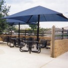 12' x 12' Single Post Pyramid Bleacher Cover