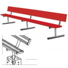7.5' Permanent Powder Coated Bench with Back