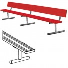 7.5' Powder Coated Portable Bench with Back by
