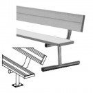 8' Heavy Duty Surface Mount Aluminum Bench with Back