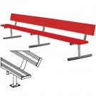 7.5' Surface Mount Powder Coated Bench with Back by