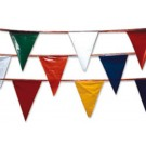 100' Pennant Streamers Crowd Control / Runway Flags
