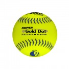 "12"" Classic Super Gold Dot Softballs from Worth - 1 Dozen"