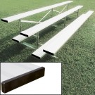 21' Stationary Aluminum Bleachers (3 Rows)