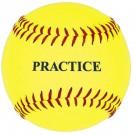 11'' Yellow Practice Softballs (1 Dozen)