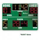 MacGregor® 6' x 8' Basketball Scoreboard with Double Bonus and Time Outs Left