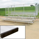 15' Stationary Aluminum Bleachers (5 Rows)