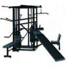 Blue Chip 8 Station Weight Training Machine with Black Frame