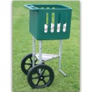 Adjustable Field Ball Cart with Large Volume Ball Hopper by