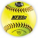 "12"" Mark 1 Yellow Leather Softballs - 1 Dozen"
