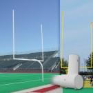 Collegiate White Gooseneck Goal Post (1 Pair)
