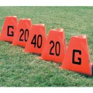 Poly Flag Football Sideline Marker Set (5 Pieces)