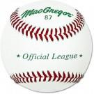 MacGregor® #87 Official Split Leather Baseballs (1 Dozen)