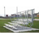 15' Stationary Aluminum Bleachers (4 Rows)