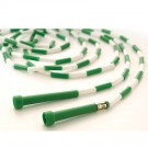 16' Green / White Segmented Skip Rope (Set of 20)