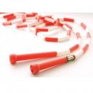 7' Red / White Segmented Skip Rope (Set of 20)
