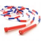 9' Red / White / Blue Segmented Skip Rope (Set of 20)