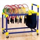 Racquet Cart with Basket
