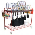 Racquet Storage Cart by