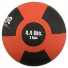 4.4 lb. / 2 Kg Reactor Rubber Medicine Ball (Red)