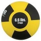 6.6 lb. / 3 Kg Reactor Rubber Medicine Ball (Yellow)