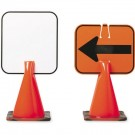 Plastic Clip-On Cone Sign (Blank)
