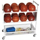 16 Basketball Double Wide Ball Cart by