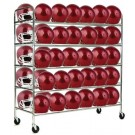 60 Football Helmet Storage Cart by