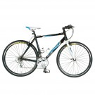 Tour De France Packleader Elite 49cm 16 Speed Road Bicycle (Black / Blue)