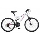 "Polaris Ranger Girls 24"" Dual Suspension 21 Speed Mountain Bike"