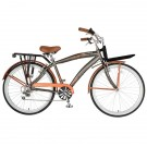 "Hollandia Men's Land Cruiser 26"" Bicycle (Pewter / Copper)"