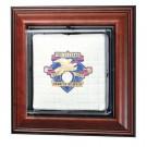Wall Mountable Mini Baseball Base Display Case (Wood)