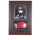"""Boxing Glove and 8"""" x 10"""" Photograph Display Case with Black Frame by"""