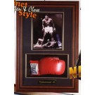"""Boxing Glove and 8"""" x 10"""" Photograph Display Case with Wood Frame by"""