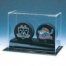 Double Hockey Puck Display Case by
