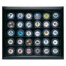 Cabinet Style 30 Puck Ice Hockey Display Case (Mahogany) by