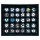 Cabinet Style 30 Puck Ice Hockey Display Case (Wood) by