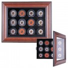 Cabinet Style 12 Puck Ice Hockey Display Case (Mahogany) by
