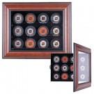 Cabinet Style 12 Puck Ice Hockey Display Case (Mahogany) by