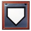 Wall Mountable Full Size Baseball Home Plate Display Case (Mahogany) by
