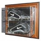 """""""Case-Up"""" Double Baseball Cleat Display Case (Mahogany) by"""
