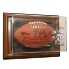 Green Bay Packers Super Bowl XLV Champions Wall Mountable Football Display Case (Brown)