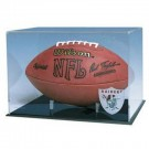 Full Size Football Display Case with Engraved NFL Team Logo (Black Acrylic Base)