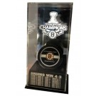 Boston Bruins 2011 Stanley Cup Champions Puck Display Case with Scores by