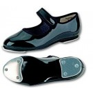 Danshuz Toddler / Child BLACK PATENT Velcro Tap Shoes
